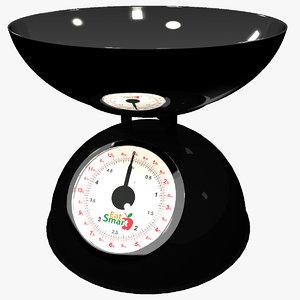 kitchen mechanical scales eatsmart 3d 3ds