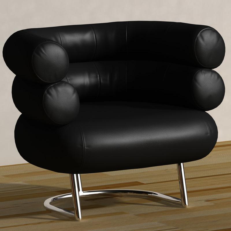 3d model design chair bibendum eileen
