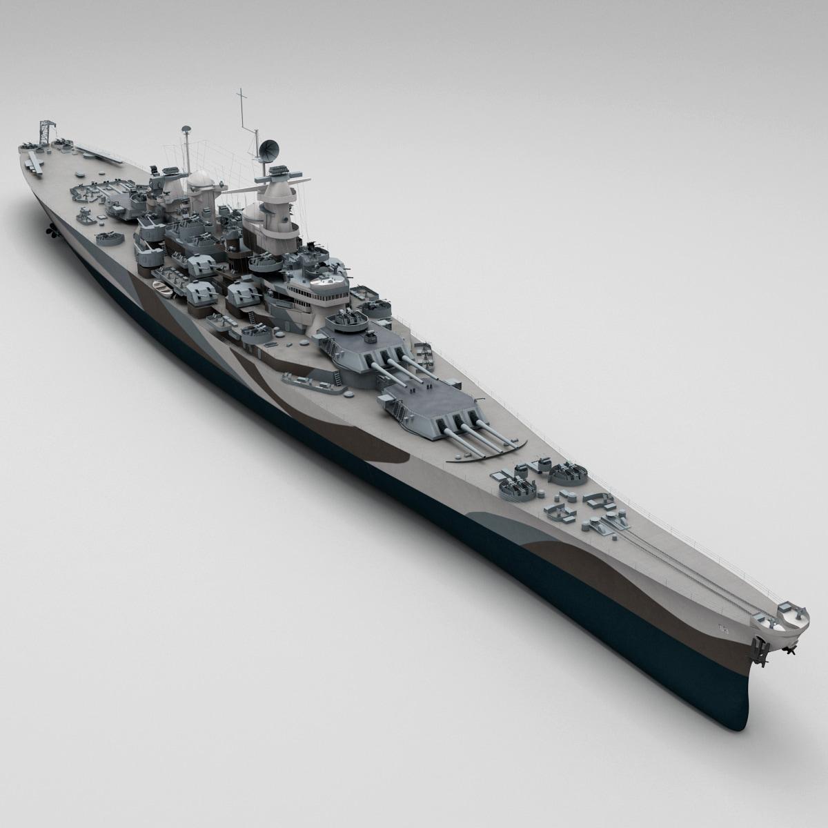 3d uss bb 63 missouri model