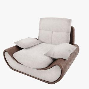 armchair satis 3d max