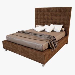 3d model bed furniture