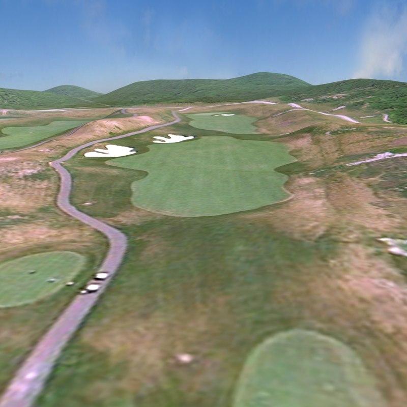 golf course terrain lightwave 3d fbx