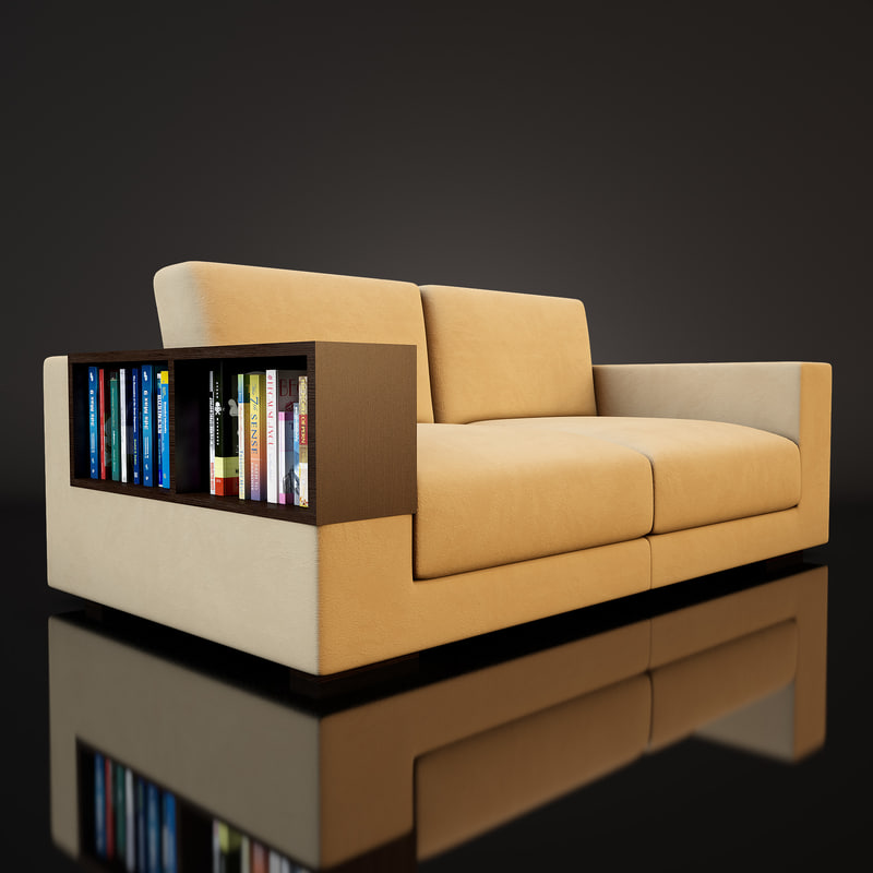 sofa furniture furnishing 3d model