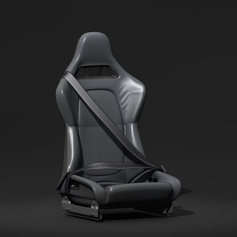 racing car seat 3d max