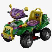 c4d toy car 4
