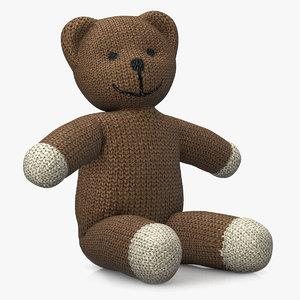 3ds rigged teddy bear