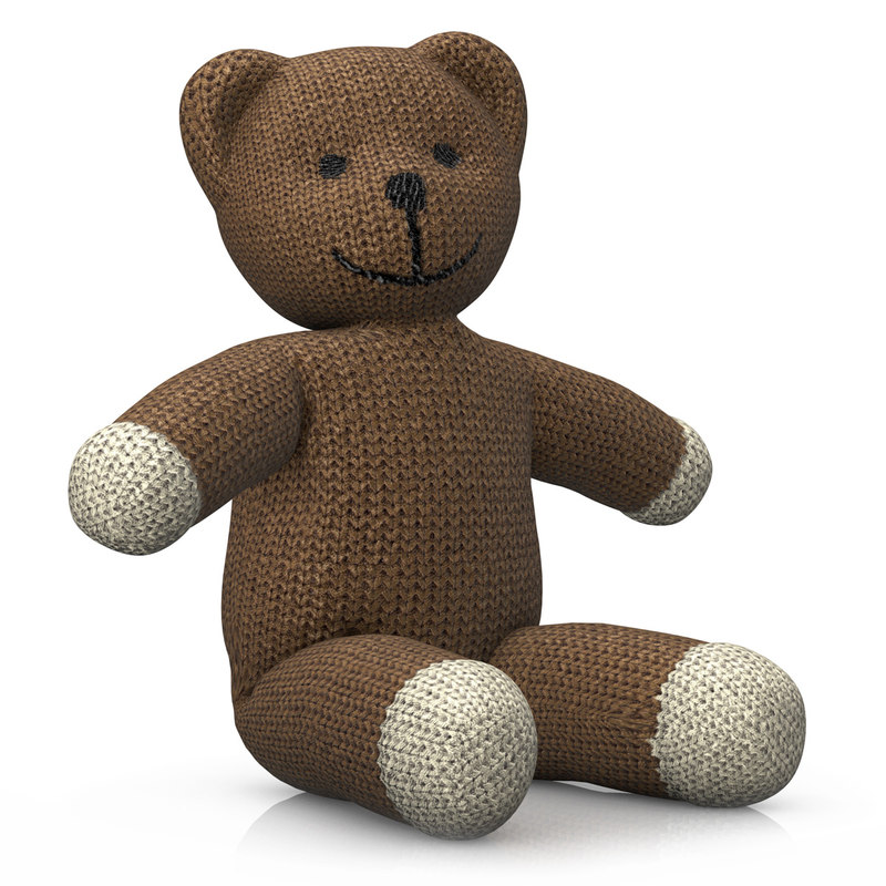 3ds rigged teddy bear