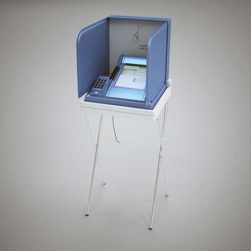 3d e-voting machine model