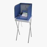3d e-voting machine model