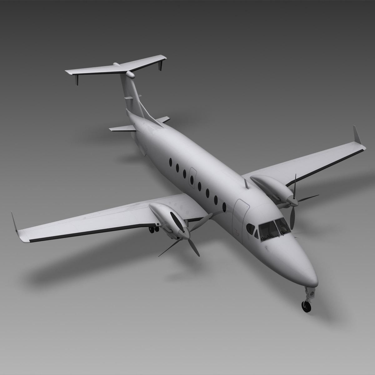 3d realistic passenger aircraft model
