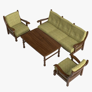 3d model furniture oak