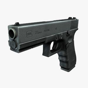 ready glock 22 3d obj