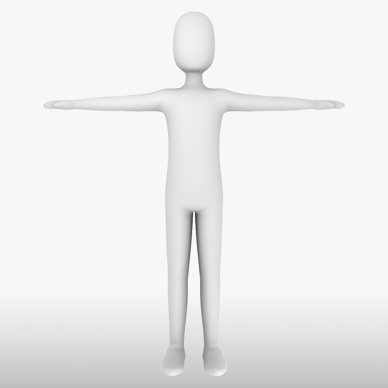 3d model white man - generic