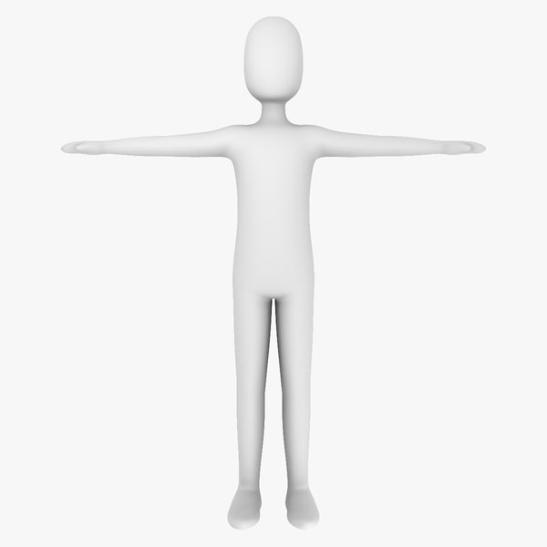 3d model white man - generic