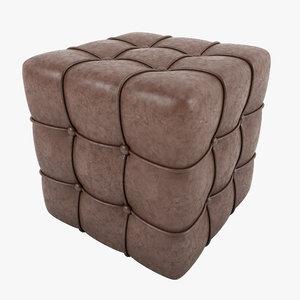 3d padded stool model