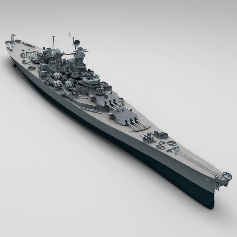 uss bb 63 missouri 3d model