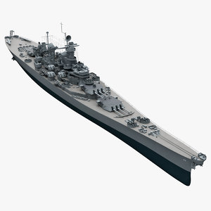 uss bb 63 missouri 3d model