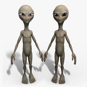 3d grey alien