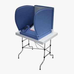 3d model e-voting machine
