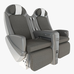 3d jal sky shell seat model
