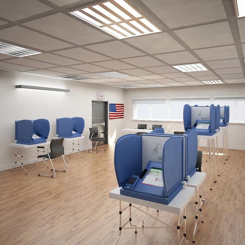 e-voting station 3d model