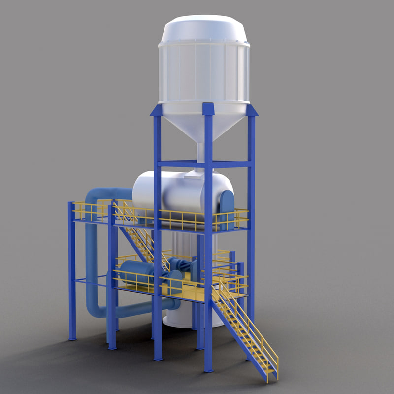 3d industrial tower