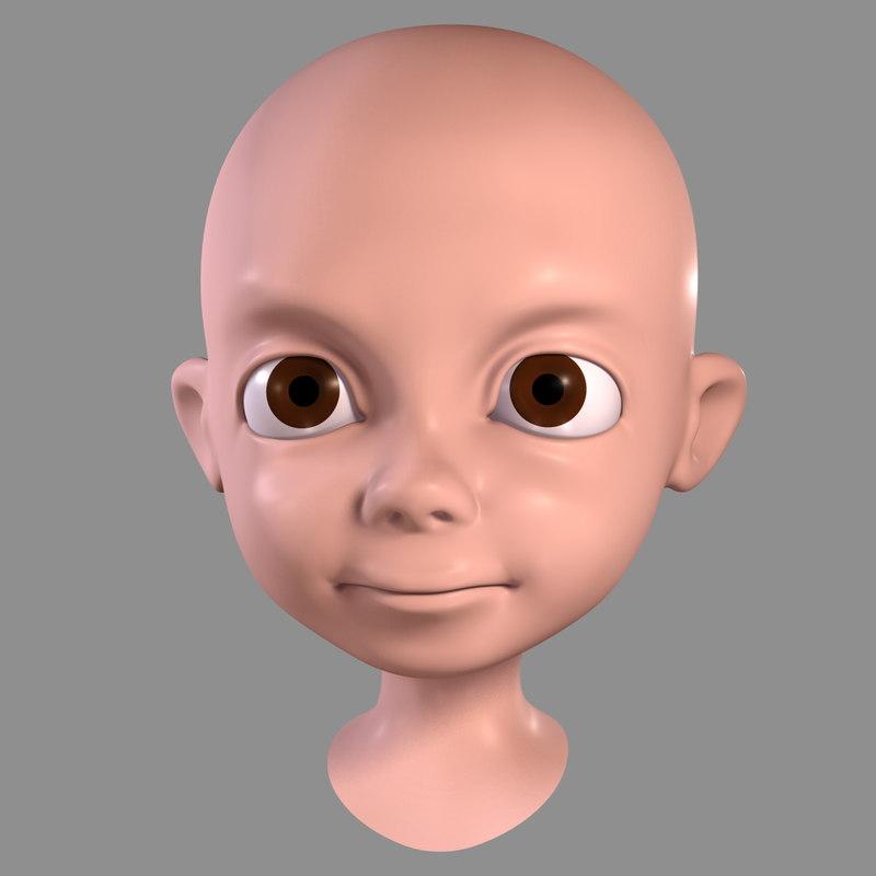 max cartoon boy - head