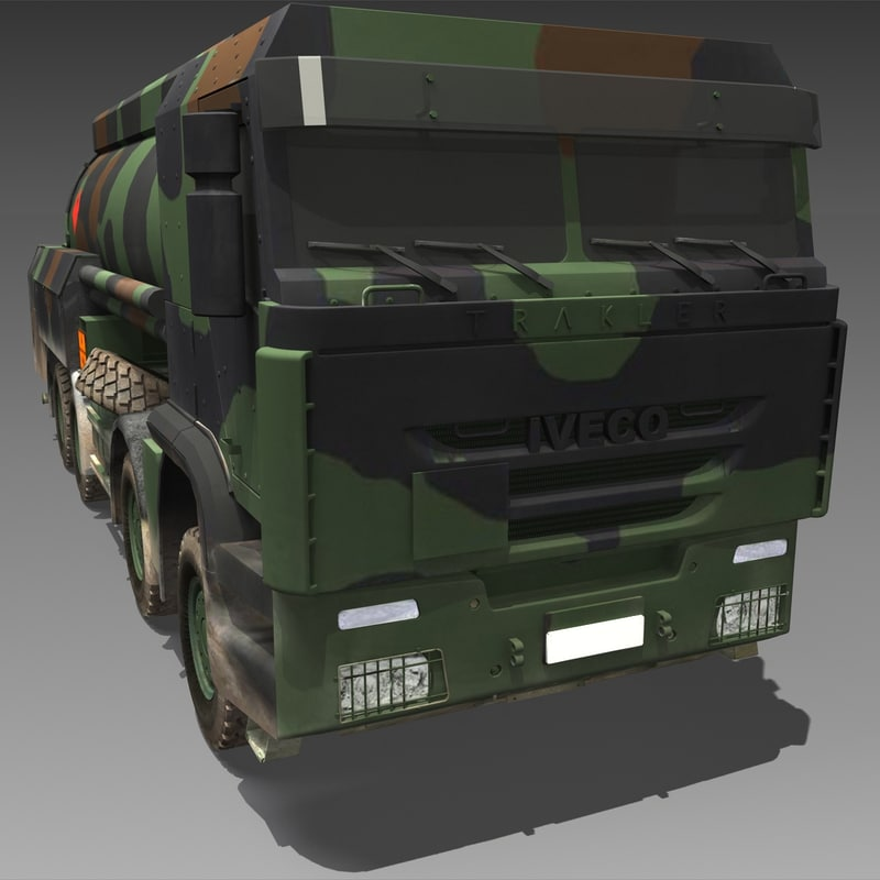 iveco military wheeled tanker 3ds