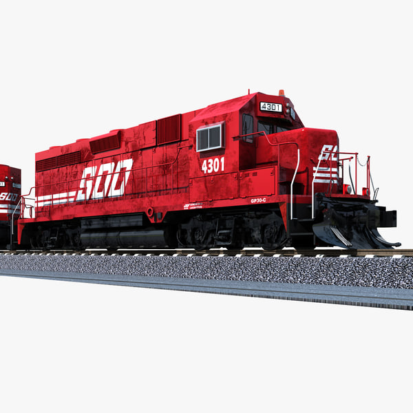 soo 4301 locomotive gp30c 3d model