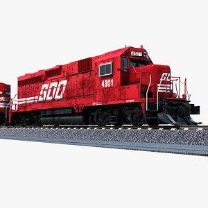 soo 4301 locomotive gp30c 3d model