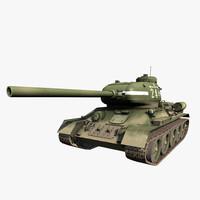 3d model t 34-85 soviet tank