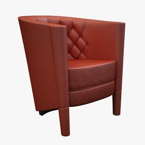 3d rich cushion armchair moroso