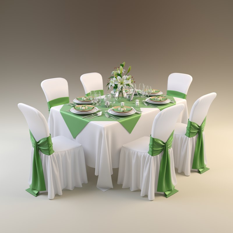 3d model table restaurant