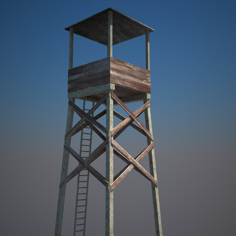 hunters watch tower architecture 3d max
