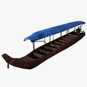long tail boat 3d max