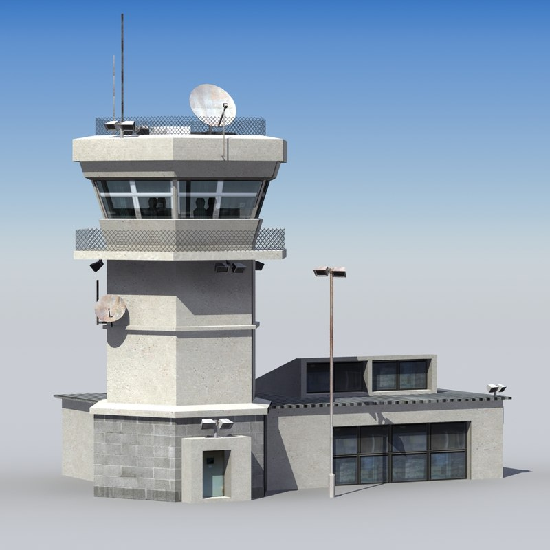 3d air control tower model
