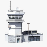 3d air control tower model