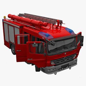c4d mercedes atego truck