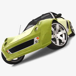 cinema4d smart roadster brabus sedan