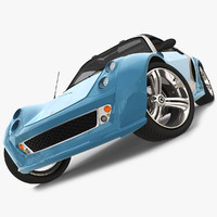 smart roadster brabus traveler 3d model