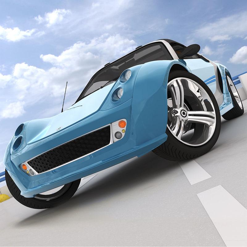 smart roadster brabus traveler 3d model. Black Bedroom Furniture Sets. Home Design Ideas