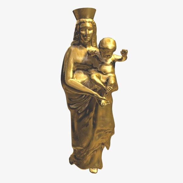 statue lady guard max