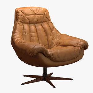 obj leather swivel chair h