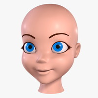 Cartoon Girl - Head