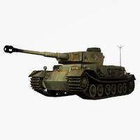 German WWII Panzerbefehlswagen Tiger (P) Heavy Tank