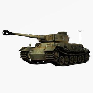 german wwii panzerbefehlswagen tiger 3d obj
