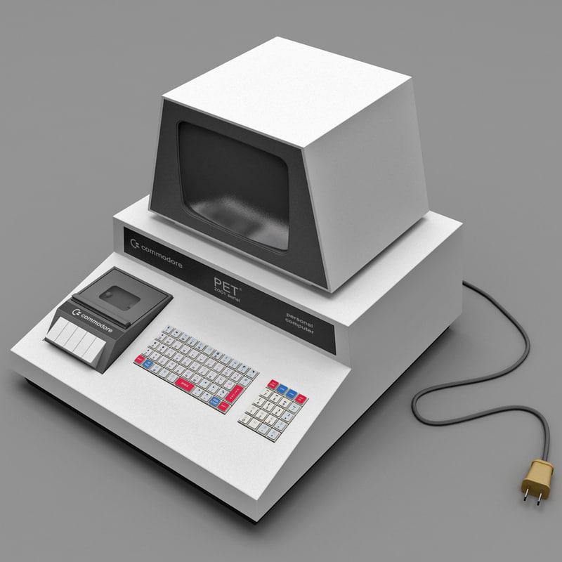 retro computer pet 2001 3d max