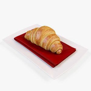 3d croissant model