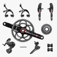 3d campagnolo super record groupset model