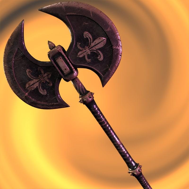 max axe weapon battleaxe